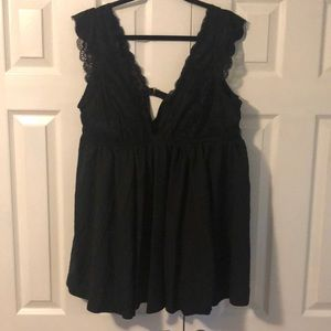 Flattering lace babydoll top